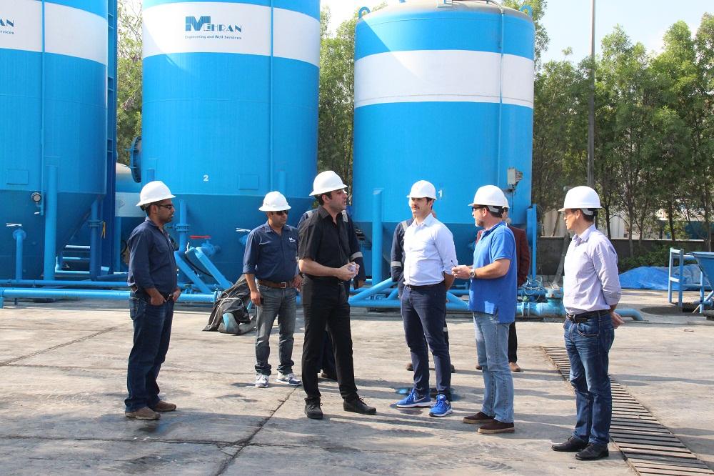 TOTAL and POGC visit Mehran
