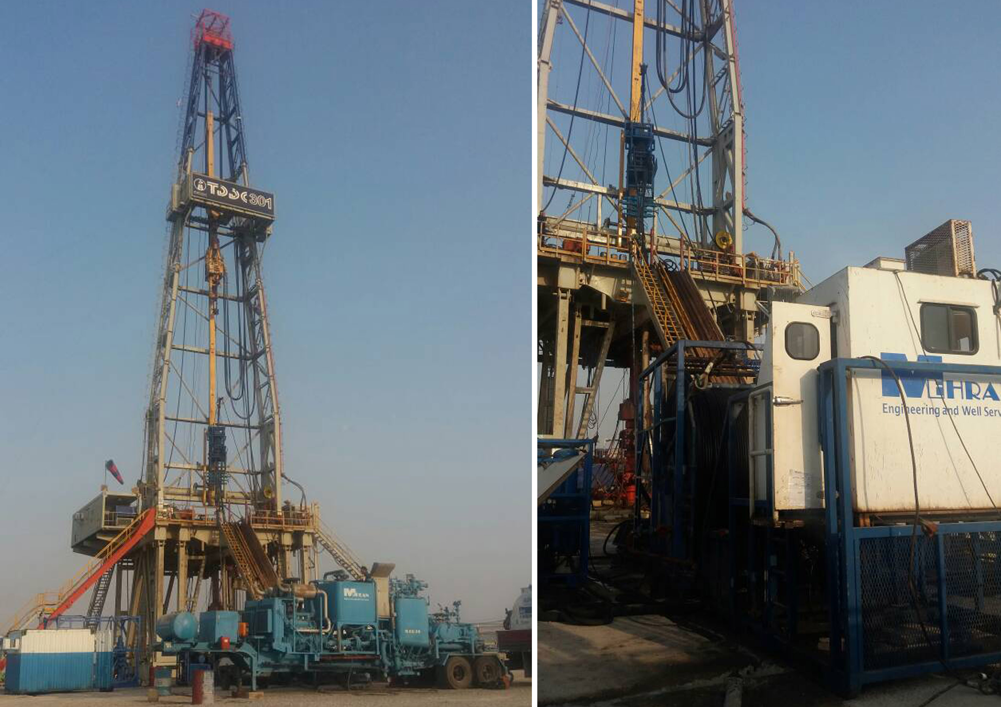 Mehran's first Coiled Tubing Operation in Onshore, TDDC-301 Rig, Well AZNS-115